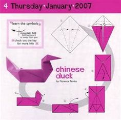 origami chinese duck instructions. Proably the easiest duck around.