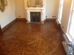 Versailles parquet panels Solid reclaimed old oak 1000*1000*23 mm Panels are inequalities in thickness and bevel