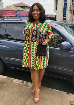 Amazing ways to style your Kente Fabric Ankara Short Gown Styles, Short Gowns, Africa Fashion, African Women, African Dress, Printing On Fabric, Stylish, Amazing, Clothing