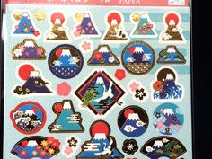 Mount Fuji Stickers Japanese Washi Stickers by FromJapanWithLove