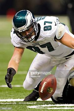 d0ac75d97d1 Brent Celek of the Philadelphia Eagles fumbles a pass against the New  Orleans Saints at MercedesBenz