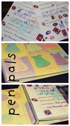 Keep your pen pal letters in a scrapbook!