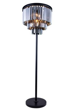 sydney collection floor lamp mocha brown finish royal cut silver shade crystals watts lumens lamp type shape light bulb bulb - Silver Floor Lamp
