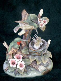 SALE Vintage Gorham porcelain Humming Birds by dagutzyone on Etsy, $60.00