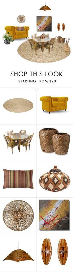 """Sala de jantar"" by megeller on Polyvore featuring interior, interiors, interior design, casa, home decor, interior decorating, Joybird, Palecek e LSA International"