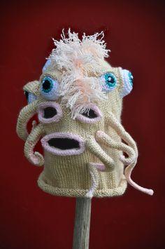 Creepy sci fi and horror inspired custom knitting by Tracy Widdess