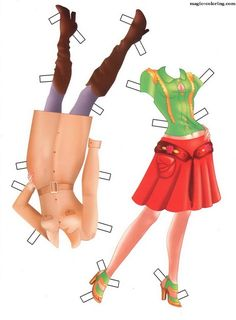 MAGIC-COLORING | Paper doll 15