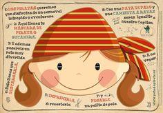 Ilustración, orlas, Invitaciones bautizo, comunión, cumpleaños, diseño grafico: CARNAVAL PIRATA #2