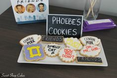 Friends TV themed sugar cookies
