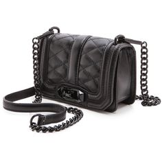 Rebecca Minkoff Mini Love Cross Body Bag ($195) ❤ liked on Polyvore featuring bags, handbags, shoulder bags, purses, accessories, bolsas, leather shoulder bag, genuine leather handbags, leather cross body handbags and mini cross body purse
