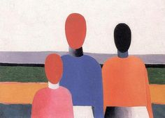 histoire-de-lart:  kazimir malevich, three woman figures, oil on canvas