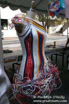Dress of Cables - Repurposed Fashion | Trashion | Refashion | Upcycled Fashion