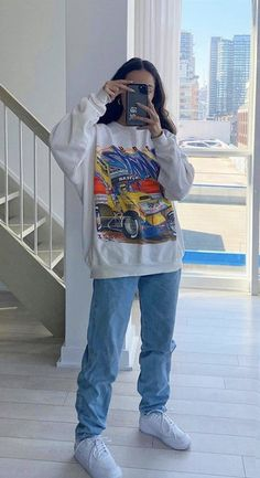 Adrette Outfits, Swaggy Outfits, Tomboy Outfits, Indie Outfits, Tomboy Fashion, Teen Fashion Outfits, Retro Outfits, Cute Casual Outfits, Streetwear Fashion