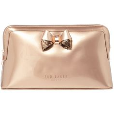 Ted Baker Tellina Glitter Large Makeup Bag ($39) ❤ liked on Polyvore featuring beauty products, beauty accessories, bags & cases, toiletry bag, travel toiletry case, cosmetic purse, make up purse and wash bag