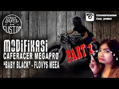 modifikasi caferacer megapro meea baby black - part 2 - YouTube
