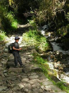 A local kid walking the Inca Trail!