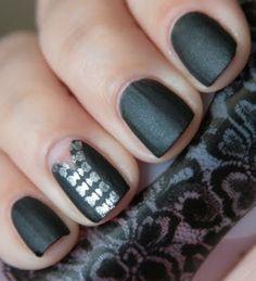 Matte Black with Silver Zipper Design