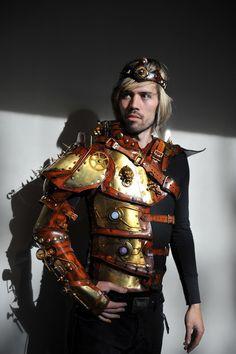 Emperors Armor of Empowerment  Steampunk Full arm half torso