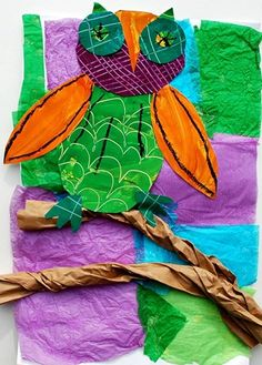 3rd Grade-paper collage..using complementary colors
