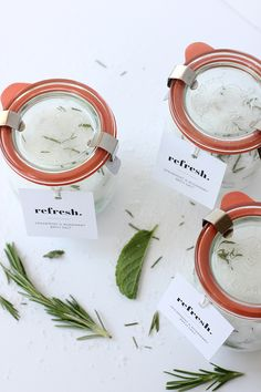 DIY: Mother's Day Homemade Herbal Bath Salts by @aliceandlois for @minted - Includes a printable label, making these homemade bath salts the perfect, easy homemade gift for all the mamas in your life.
