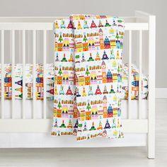 Hit the Town Flannel Crib Bedding #NodWishListSweeps
