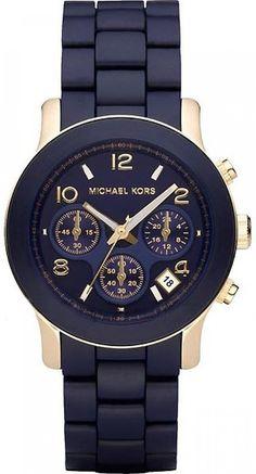 c590ba67232f Amazon.com  Michael Kors Women s MK5316 Navy Silicone Wrapped Runway Watch  Michael  Kors  Watches