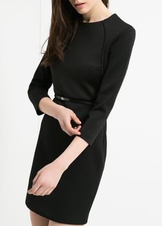Neoprene-effect panel dress - Dresses for Women | MANGO