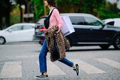 Mica Argañaraz | Paris via Le 21ème Paris Street, Catwalk, Outfit Of The Day, Kimono Top, Street Style, Paris Fashion, Tops, Singapore, Women
