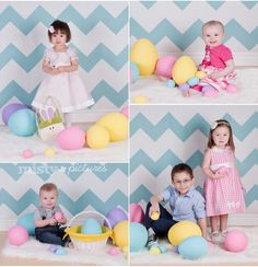 easter mini session ideas - Love the Blue chevron