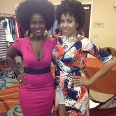 Vlogger @Jouelzy and I at @ChicandKinky #NaturalsNightOut in D.C. #NNODC #afrolicious #afrotastic #naturalhair #naturalhaircommunity