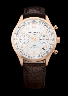 Vintage Chronograph Rose Gold William L. 1985