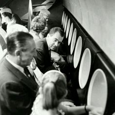 Walt Disney with Richard Nixon on the Submarine Voyage thru Liquid Space