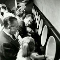 Walt Disney with Richard Nixon on the Submarine Voyage thru Liquid Space