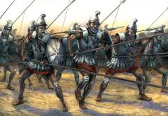 Argyraspides (silver shields) the elite phalanx of the Seleucid empire.