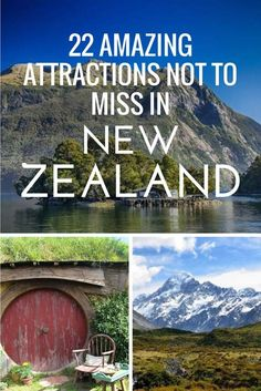 22 Amazing Attractions Not to Miss in New Zealand. Things to do in New Zealand, New Zealand Bucket List, New Zealand Travel, New Zealand Destinations, New Zealand Attractions, Places to Go in New Zealand.
