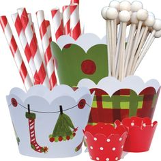 Amazon.com: Elf Theme Christmas Party Supplies Pack, Hostess Gift, Confetti Couture, 96 Piece Kit: Toys & Games