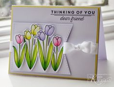 The Card Concept #30/Spring Tulips MFT Stamps