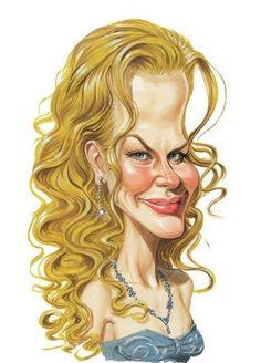 Caricatura de Nicole Kidman.