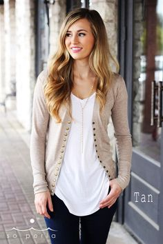 Spring Snap Button Cardigan   New Colors