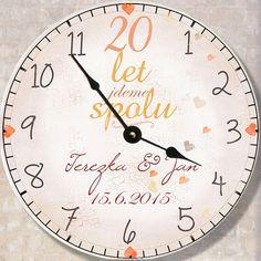 Úvodní obrázek pro zboží Dárek k výročí svatby, hodiny Clock, Wall, Decor, Watch, Decoration, Decorating, Dekorasyon, Dekoration, Clocks