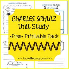 Charles Schulz Unit Study with Free Printable Pack