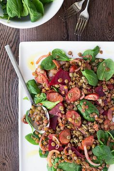 Lentil, Chorizo and Beetroot Salad