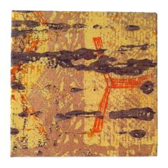 Textile Art Screenprint Rustic Earthy by Tania Bishop Artisan