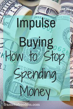 Do you struggle with impulse buying? Are you trying to save money this year? If you tend to buy things when they aren't needed, this post will help you stop spending money. Click through to read the full post. Save Money On Groceries, Ways To Save Money, Money Tips, Money Saving Tips, Budgeting Finances, Budgeting Tips, Managing Your Money, Financial Tips, Financial Peace