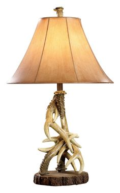 White River Antler Table Lamp - Non California Residents Deer Antler Lamps, Deer Lamp, Antler Lights, Antler Art, Old Hickory Furniture, Cabin Furniture, Western Furniture, Furniture Ideas, Furniture Design