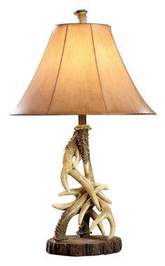 Antler Table Lamp   Bass Pro Shops #antlerlamp #rusticdecor
