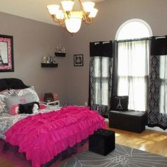 paris inspired girls bedroom | ... pre teen* from her baby Paris theme to this big girl Paris theme. I would change the lighting though