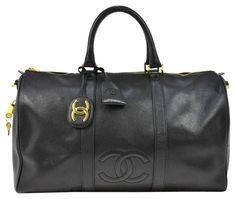 8a156533d291 Chanel black Travel Bag Chanel Luggage, Chanel Products, Chanel Chanel,  Chanel Black,