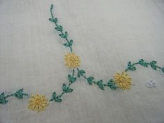 Antique Handmade Embroidered Roses Lawn Gauze Fabric French Doll Dress Early 19c