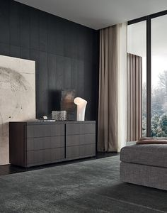 Poliform contemporary furniture: the Italian brand of fine and designer furniture with high quality finishings. Interior Design Living Room, Modern Interior, Interior Architecture, Home Bedroom, Bedroom Decor, Bedrooms, Store Venitien, Contemporary Bedroom, Furniture Design